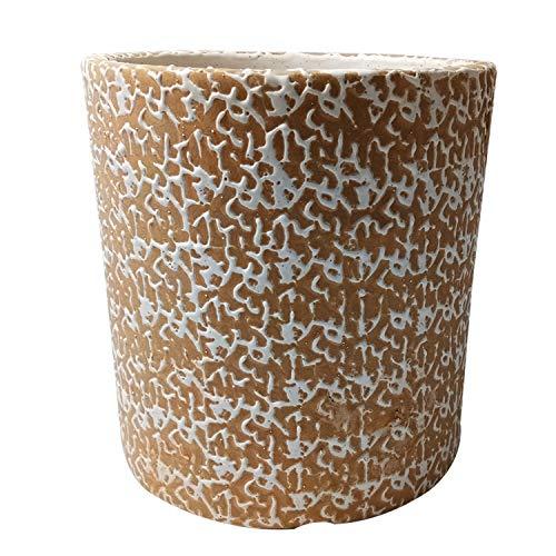India Meets India Planter Cylindrical Flower Pot Ceramic Designer Handicraft Indoor Planter Vase Pot Home Décor