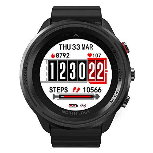 Wan&ya Reloj Deportivo Inteligente GPS Reloj para Correr Rastreadores de Ejercicios con Monitor de Ritmo cardíaco Contador de Pasos Brújula de presión de Aire Reloj Digital Impermeable IP67