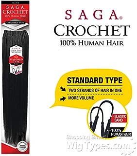 SAGA HUMAN HAIR CROCHET BRAIDS PRE LOOP TYPE YAKY (10