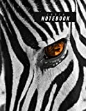 Cute Zebra Notebook: Earth Note Series - 8.5'X11' 120 Page Lined Paper Cute Zebra Journal, Zebra Pattern Black And White Stripe Log Book For Zoo ... Wild Animal, Pet Animal - Earth Note Series)