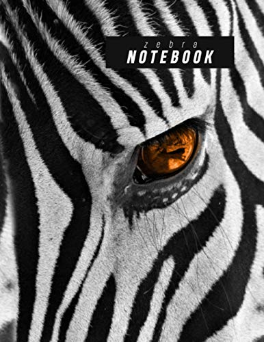 Cute Zebra Notebook: Earth Note Series - 8.5'X11' 120 Page Lined Paper Cute Zebra Journal, Zebra Pattern Black And White Stripe Log Book For Zoo Lovers, African Animal Enthusiast