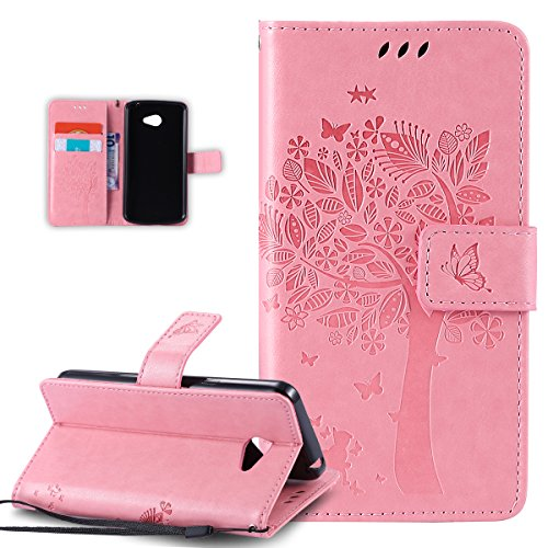 Custodia LG K5,LG K5 Cover,LG K5 Custodia Cover [PU Leather] [Shock-Absorption] Protettiva Portafoglio Cover Custodia Go nterno Case e Porta carte di credito Custodia Cover per LG K5,Cover LG K5,Rosa