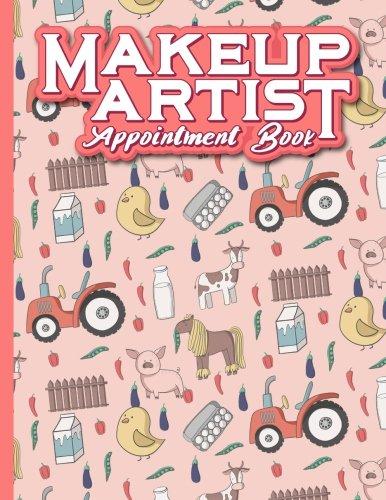 Makeup Artist Appointment Book: 7 Columns Appointment Organizer, Client Appointment Book, Scheduling Appointment Calendar, Cute Farm Animals Cover: 35
