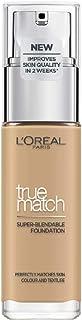 LOreal Paris True Match - Base líquida Arena dorada con ácido hialurónico y SPF 30 ml