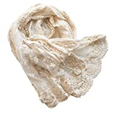 Honra Lace Photography Wrap Newborn Girl Photo Posing Props Infant Baby Photoshoot Layers Blanket Professional (Ivory Cream A)