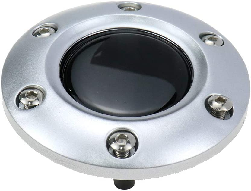Modengzhe Universal Fit Silver Plastic Cover 6-Bolts Steering Wheel Horn Button for Auto Car 85mm Diameter