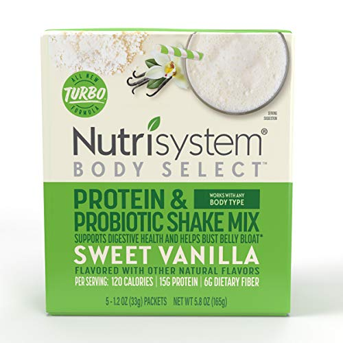 Nutrisystem® Body Select™ Sweet Vanilla Protein & Probiotic Shakes, 20ct, Delicious Shakes that Bust Belly Bloat* and Support Digestion