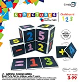 CreateOn Chalkboard 123 Magna-Tile Number Set Award Winning Educational Magnetic Tile Set. Makes Learning About Numbers Fun!! Stem & Steam Approved