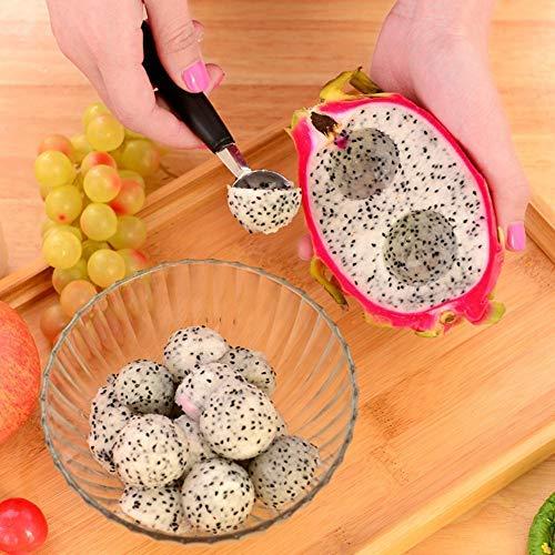 Kugelausstecher Deko Melonenlöffel Melonenausstecher Doppel Ende Obst Kugel Löffel Obstlöffel aus Edelstahl
