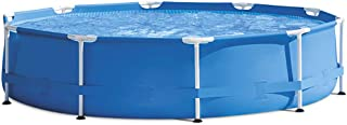 QQLK Frame Pool Redonda Piscina Desmontable Tubular 305 X 76 Cm- Piscina Sobresuelo(1250L)- Malla Compuesta De 3 Capas- Montaje RaPido- Piscina para NinOs Y Adultos - Azul