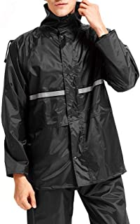 MaxWant レインウェア レインスーツ レインコート アウトドア 上下セット 通気メッシュ 着脱式合羽 透湿 防水 撥水 バイク 自転車 通学 通勤 男女兼用 収納袋付き