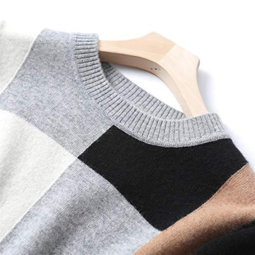 Wnkls Cera Blanda Mujeres Puro Suéter De Color Geométrica Suéter De Cuello...