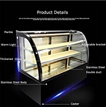 New Refrigerated Cake Showcase Curved Commercial Pie Display Case Cabinet Cooler Bakery Display(Item#210077)