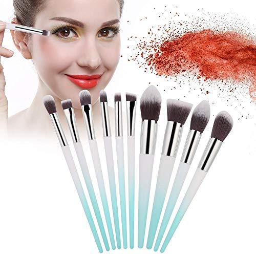 Ensemble de pinceaux de maquillage 10 pièces, pinceau de maquillage en fibre artificielle pour base de fard à paupières Ensemble complet de pinceaux de maquillage(#1)