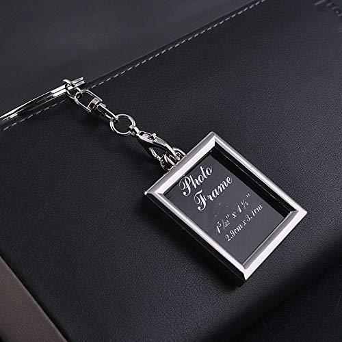 Creatieve metalen sleutelhanger, modieuze metalen sleutelhanger, mini fotolijst paar metalen sleutelhangers sleutelhangers, 10 stuks, geschikt voor modemensen en koppels