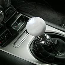 LT Sport SN#100000000987-0843-223 for Nissan Shift Knob Silver 6-SPD + Leather Boot Cover