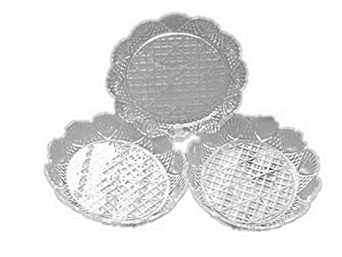 """6 Clear Acrylic Salad Plates Dishes Bowls 6 X 5.5 Outside Dimension 4 X 4.5 X1"""" Inside"""
