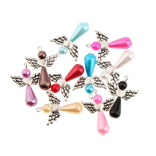 10 Stück Gemischt Engel Flügel Charme Perle Anhänger DIY Schmuckzubehör