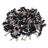 100 Pcs Ground Wire Black Flex Clips with Screw 10 12 14 Gauge GA