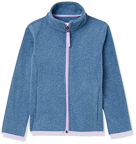 Amazon Essentials Polar Fleece Full-Zip Mock Jackets Chaqueta, Azul Jaspeado/Lila, 6-7 años