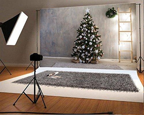 YongFoto 3x2m Fotografie Achtergrond Kerstboom Geschenken Garland Ladder wazige muur Tapijt Houten Vloer Interieur Foto Achtergronden Fotografie Video Party Kids Portret Photo Studio Props