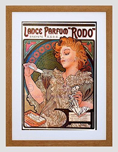 Wee Blue Coo Alphonse Mucha Lance Parfum Rodo 1896 Oude Master Omlijst Muur Art Print