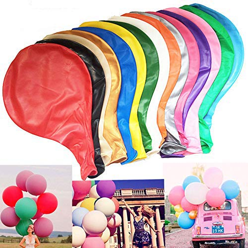 WENTS Balloons 36 Inch Assorted Reusable Giant Latex Balloons for Wedding Party Birthday Festival Event Decorations 10pcs/Pack