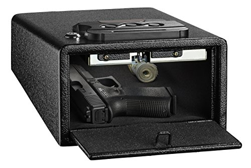 AdirOffice Pistol Safe - Electronic, Easy to Install, Heavy Duty Storage for Firearms Cash Jewelry Documents & More - for Home Office Hotel Use (Black, Small)
