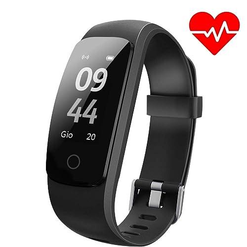 Fitness Tracker ANEKEN Orologio Fitness Activity Tracker Cardiofrequenzimetro da Polso Pedometro Impermeabile IP67 con Monitoraggio Sonno del Notifiche Chiamate e SMS Whatsapp Facebook per Donna Uomo