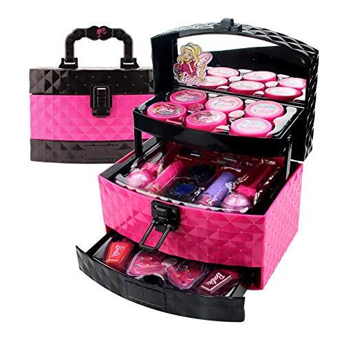 Hangarone Kosmetikspielzeug-Set, Kosmetikspielzeug für Mädchen Prinzessin Make-up Box Make-up-Palette für Mädchen Lippenstift Show Spielhaus Spielzeug, 20,5X13X13,5 cm
