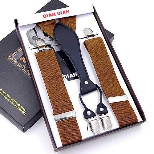 SUPOOGO 3.5Cm mannen riem vier clip broek slingeren lange bandjes vet mensen 4 clips elastische ophangers riem man