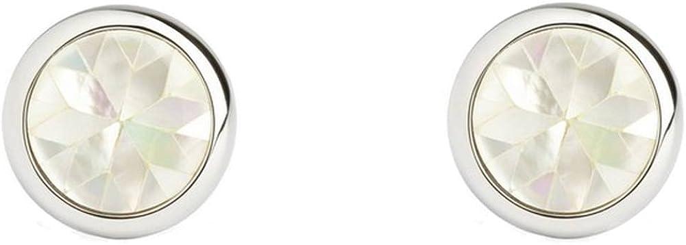Simon Carter Mens Mother of Pearl Kaleidoscope Cufflinks - White