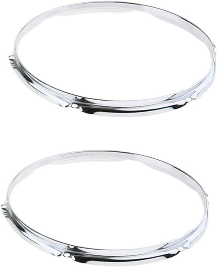 Regular store 2 Pieces 6 Lugs Die Cast Tom Percussion Drum San Jose Mall Ins Hoops Set 1.2mm