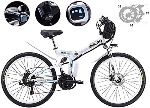 Bicicleta electrica 26 pulgadas Neumático Bicicleta eléctrica plegable plegado de lodo bicicleta...