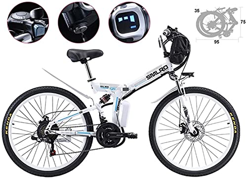 Bicicleta electrica 26 pulgadas Neumático Bicicleta eléctrica plegable plegado de lodo bicicleta bicicleta 21 velocidad 48V 500W Montaña Bicicletas eléctricas 3 MODO MODO POTENCIA SPOOTER ALTAVOZ INTE