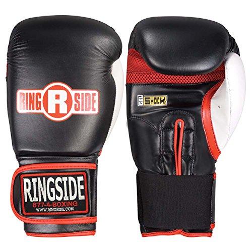 Ringside Gel Shock Boxing Super Bag Gloves, Black, Regular