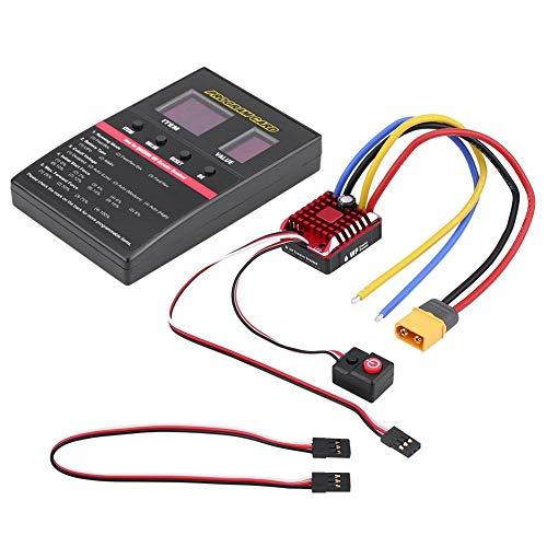 Dilwe ESC Auto RC, 80A ESC Spazzola Impermeabile 80A con 080 Imposta la Carta Regolatore elettronico di velocità per 1/8 1/10 Auto RC