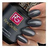 Smalto semipermanente Pink Gellac - 169 Smoked Grey 15 ml LED UV GEL Grigio Fumo