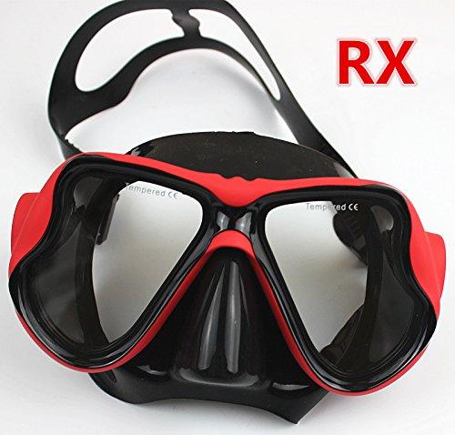 YEESAM SWIM Tauchermaske kurzsichtig Diving Tauch Schnorchel Maske NEARSIGHTED Verschreibung RX Sehstärke (Different 2 Augen)