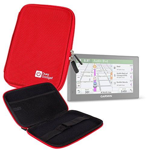 DURAGADGET Funda Rígida Roja para Garmin DriveSmart 70LMT - ¡Guarde Su Tablet De Una Manera Segura!