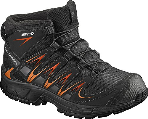 SALOMON XA PRO 3D MID CSWP 394587 Kinder-Winterschuhe Black/Orange Gr. 34 (UK 2,0)
