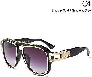 c0304585c6 ZHOUYF Gafas de Sol Moda Hip Hop Grandmaster Six Gradient Sunglasses  Hombres Mujeres Diseño De Marca