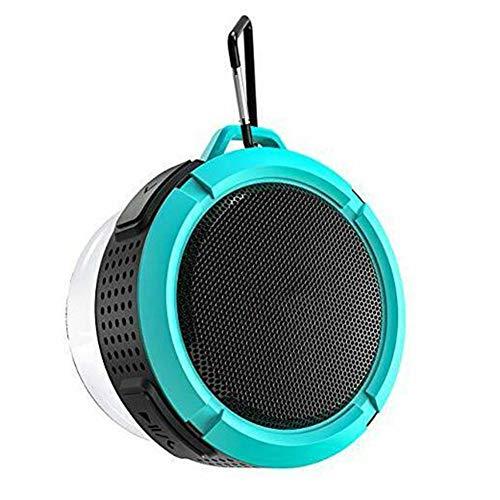 WUBAILI Hanging Bluetooth Speaker,Waterproof Bathroom Wall Hanging Outdoor Bluetooth Speaker,3D Stereo, Bluetooth 4.2,6 Hours Playback,Blue