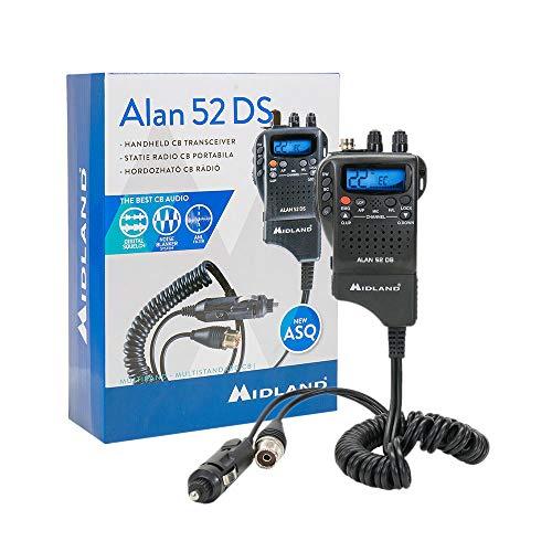 Portable CB Radio Midland Alan 52 DS Multi with Automatic Digital Squelch,  Code C1267 01