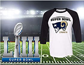Super Bowl 2019 Shirt ~ New Enland Patriots ~ Rams TEE ~ Raglan ~ House Divided ~ LA Rams ~ Football