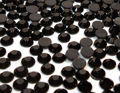 Perlin - Hotfix Strasssteine, 2880stk, Schwarz, Jet, 5mm SS20 AAA Qualität, 20 Gross, zum Aufbügeln, Hotglue, Glitzersteine Rhinestone Großhandel Glass Strass Perlen 443 x2