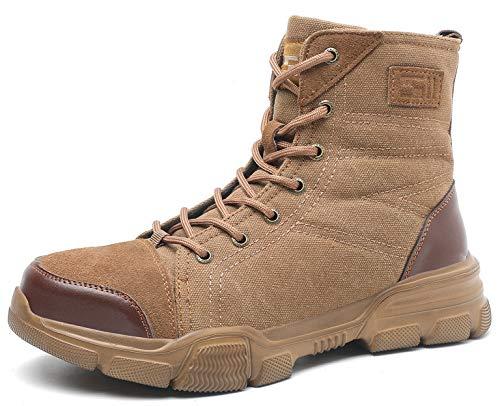 SUADEX オシャレ軽量 安全靴 ハイカット あんぜん靴ブーツ ミドルカット作業靴 冬用 ショートブーツ安全 ベージュ 作業はいカット ブーツあんぜん 安全半長靴 鋼先芯 耐摩耗 ケブラー防刺 耐滑