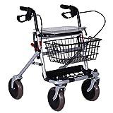 deambulatore rollator pieghevole con sedile carrello per anziani in acciaio ro7