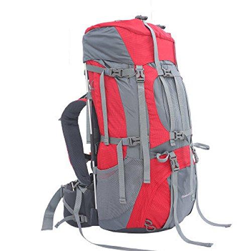 WuJiPeng Sac à Dos De Randonnée En Plein Air Multifonctionnel Grande Capacité 56-75 Sac à Dos D'alpinisme Et Camping Sport Et Imperméable,A