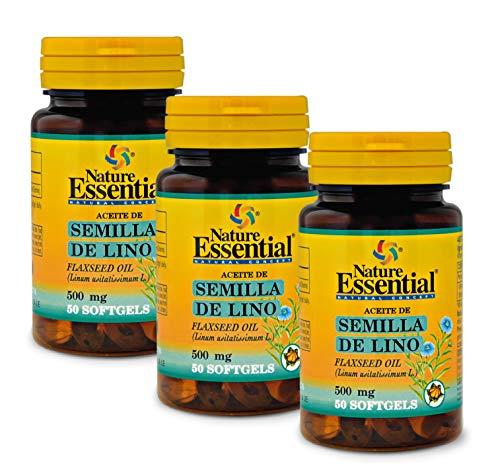 Aceite de semilla de lino 500 mg. 50 perlas (Pack 3 unid.)